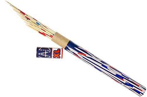 wuselwelt Riesen 083302 - Juego de mikado de madera, 38 cm, juego de micro, palillos de madera XXL, juego de sociedad, juego de habilidad