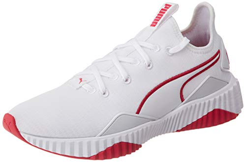 PUMA Defy New Core WnS, Zapatillas Deportivas para Interior Mujer, Blanco White/Bright Rose, 40.5 EU