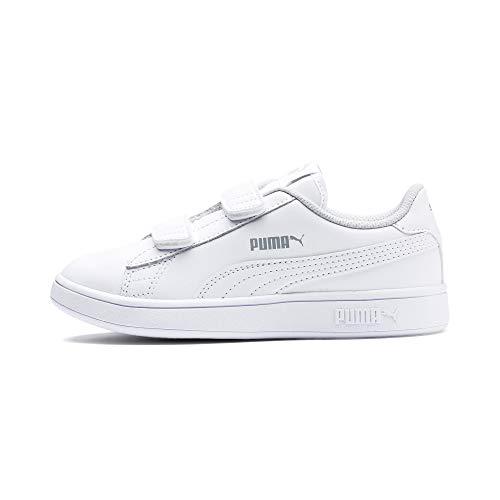 PUMA Smash V2 L V PS, Zapatillas Unisex niños, Blanco White White, 35 EU
