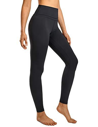 CRZ YOGA Mujer Mallas Deportivo Pantalón Elastico para Running Fitness-71cm Negro 38