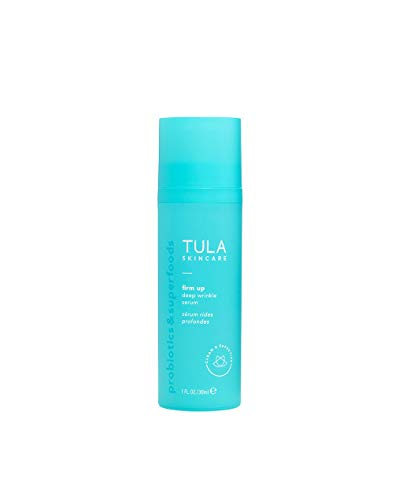 TULA Probiotic Skin Care Firm Up Deep Wrinkle Serum | Anti Aging Face Serum, Contains Retinol and Vitamin C for Plumper, Firmer, Smoother Looking Skin | 1 oz