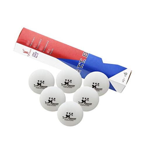 Find Bargain Samuknight Table Tennis Balls, 3 Stars New Material 40+ Professional Training Competiti...