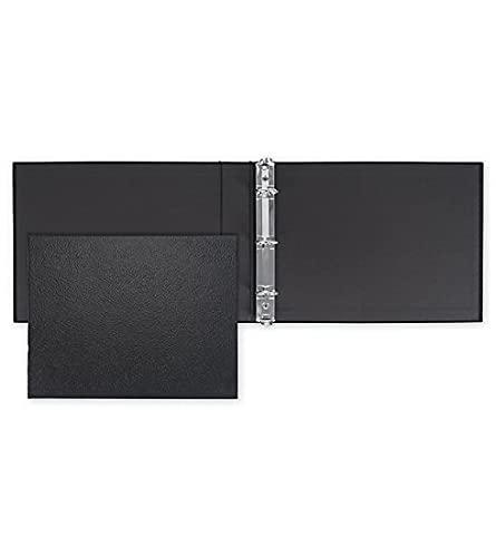 ABC Check Binder for End-Stub Deskbook Checks - Three 3 on a Page Business Check Binder - 3 Ring Sleek Design - Durable - High Capacity Storage - 11 1/4 x 9 (Black)