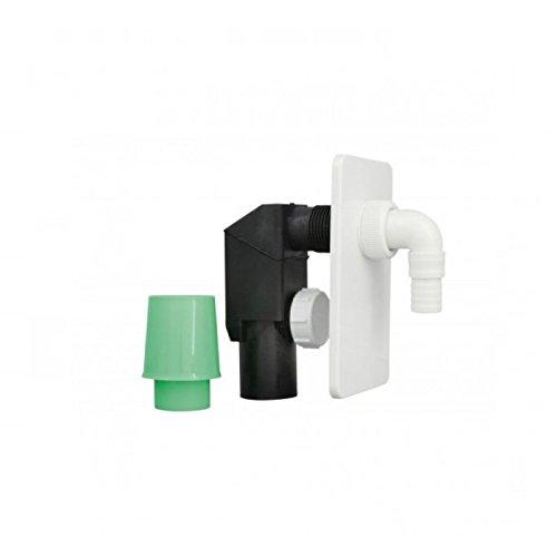 Kit di tubi di drenaggio autofilettanti, scarico, per lavatrice, lavastoviglie e asciugatrici. Bianchi, nascosti.