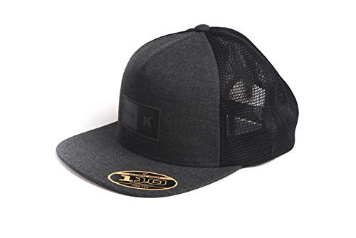 Hurley M Natural 2.0 Trucker Hat Gorra, Hombre, Black Heather, 1SIZE