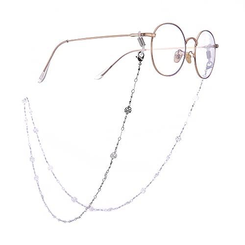 Cadenas para gafas de moda para mujer, forma de rosa hueca, cordón para anteojos, cadena para gafas de sol, soporte para gafas, correa para el cuello, cuerda para mujeres, niñas, cadena para gafas, c