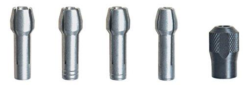 Dremel 4485 Spannzangen mit Spannmutter - Zubehörsatz für Multifunktionswerkzeug mit 5 Spannteilen zum Wechsel von Zubehörteilen