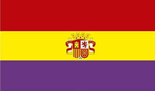 Durabol Bandera de la Republica Española con Escudo 150 * 90 cm Spain Flag