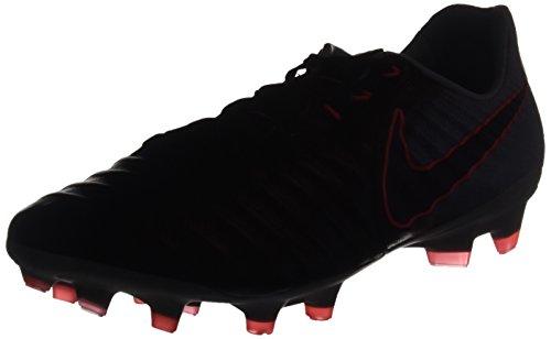 Nike Tiempo Legacy III FG, Botas de fútbol Hombre, Negro (Black/Armory Navy/Light Armory Blue), 42 EU