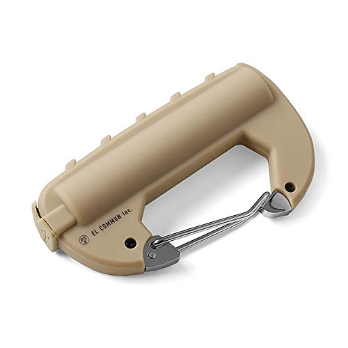 CARABINER BATTERY カラビナバッテリーSx   軽量 防滴 キーホルダー モバイルバッテリー 充電器(フリーサイズ COYOTE(CRB-003))
