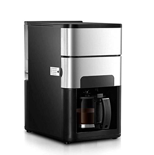 Thumby Haushalt Vollautomatische Kaffeemühle, Edelstahl Programmierbare, Leiser Betrieb, Anti-Tropf-Einstellungen, Kaffeemaschine mit Kaffeemaschine und Home- und Office-Filter, Silber jianyu