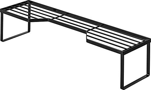 山崎実業(Yamazaki) 排気口カバー上 コンロ奥ラック 60cmコンロ用 ブラック 約W70XD18XH15cm タワー 高さがある 鍋置き フライパン置き 5265