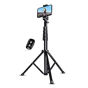 """Selfie Stick Tripod, UBeesize 51"""" Extendable Tripod Stand with Bluetooth Remote for Cell Phones and Cameras, Heavy Duty Aluminum, Lightweight"""