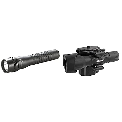 Streamlight 74751 Strion LED High lm Rechargeable Professional Flashlight with 120V AC/12V Dc Charger & 1 Charger Holder - 615 Lumens & Holster for Flashlight, Basic Tactical