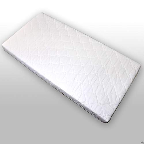Kindermatratze Kinderbett Matratze Juniorbett 160x70x10 cm Schaumstoff Weiß gesteppt Neu
