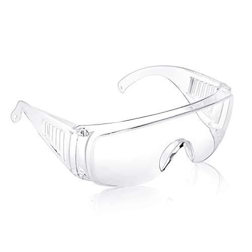 Occhiali di sicurezza sugli occhiali Pad nasale antiscivolo resistente agli spruzzi Leggero Protezione completa Riutilizzabile Unisex