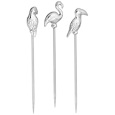 Prodyne BB-6 Bar Birds Martini Picks (Set Of 6)