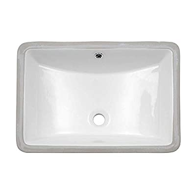 Undermount Vessel Sink - Lordear 21 Inch Rectangle Bathroom Vessel Sink Porcelain Ceramic Lavatory Bathroom Vanity Sink