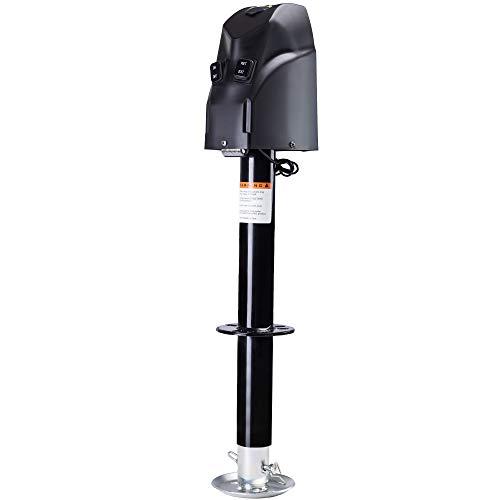 HOTSYSTEM 4000 lbs Electric Trailer Power A-Frame Tongue Jack with Drop Leg for RV Camper Traveler, 12V DC, Black
