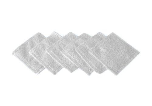 Micro Peeling Sensation - Carrés démaquillants yeux lavables - Blanc - 6 pièces - 10 x 10 cm
