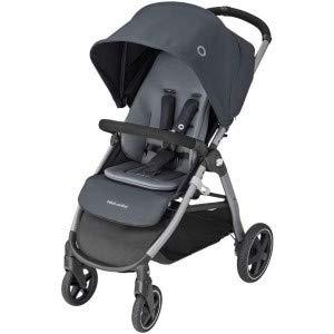Bébé Confort Gia Poussette Compacte Tout-Terrain avec Assise Confortable, de La Naissance à 4 Ans (0-22 kg), Nomad Black