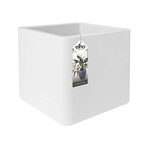 Elho Pure Soft Brick Macetero con Ruedas, 40 cm, White