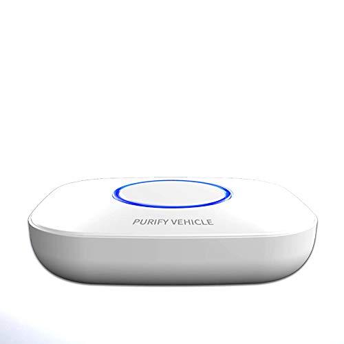 ZWWZWW Auto-luchtreiniger, extra voor formaldehyde, geur, mini-USB, aromatherapie luchtreiniger wit