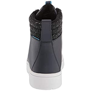 Clarks Women's Step Explore Hi. Ankle Boot, Navy Synthetic, 75 M US