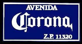 Corona - Avenida Z.P. 11320 - Metal Beer Tacker Sign