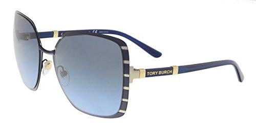 Tory Burch TY6055 Sunglasses 32168F-57 - Midnight Navy/gold Frame, Blue...