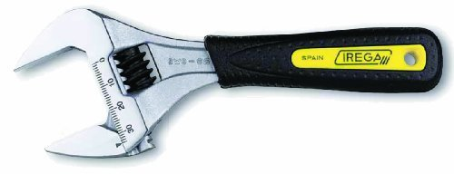 Irega IR92SW6 6-Inch Super-Wide Opening Adjustable Wrench with Replaceable Ergonomic Grip by Irega