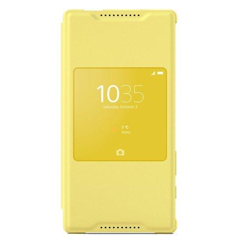 Sony Style Cover mit Fenster SCR44 für das Sony Xperia Z5 Compact - gelb
