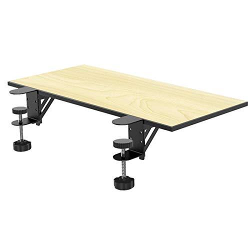 LXTIN Ergonomische Tastaturablage unter dem Schreibtisch Slide Extender Clip-on Tischhalterung Armlehne Regalständer Lochfreie Mausschublade Ellbogenarmstütze 25 * 9 '', Holzfarbe