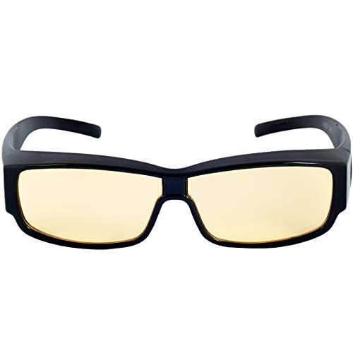 Computerbrille Anti Blaulicht - überbrille Anti Müdigkeit für Bildschirme – Umfasstes Gestell Blaulichtschutz Brille