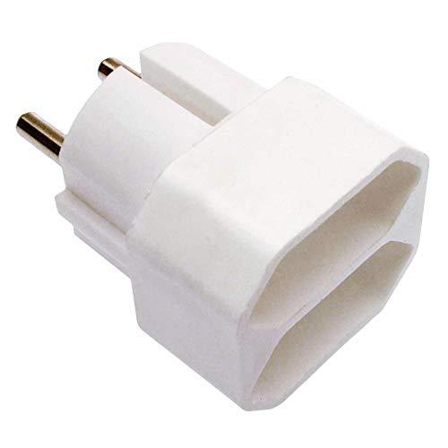 as - Schwabe Eurostecker 2-fach 230 V / 16 A – Zum Anschluss von 2 Euro-Steckern – Innen-Bereich geeignet – mit erhöhtem Berührungsschutz – Strom-Stecker für Schuko-Steckdosen – IP20 – Weiß I 48211
