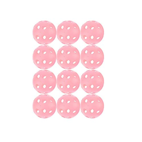 HEATLE 12 pelotas de entrenamiento de golf para entrenamiento de béisbol, con agujero hueco, bola de poliplástico, para entrenamiento de béisbol