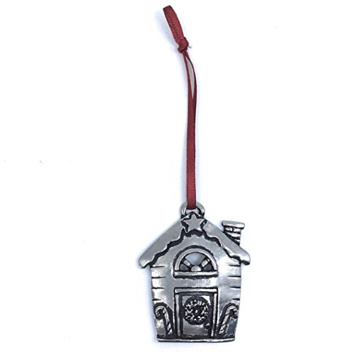Basic Spirit Home Sweet Home First House Miniature Christmas Tree Ornament Lead Free Pewter Gift Box Handmade