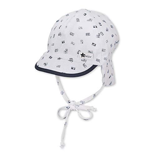 Sterntaler Baby-Jungen m 1602131 Schirmmütze mit Nackenschutz, Weiss, 45