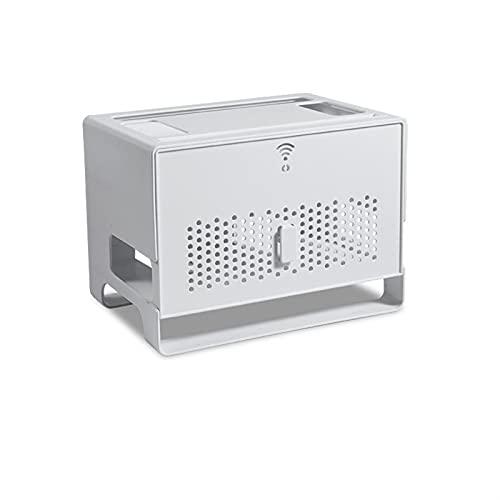 Soporte Altavoces Pared Caja de almacenamiento enrutador de WiFi de escritorio Box Organizador de alambre televisor Establecer caja de almacenamiento Top Strip Power Strip Hidden Finishing Box Soporte