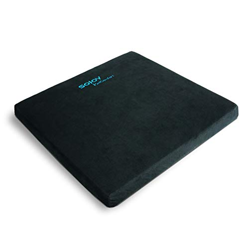 Sojoy iGelComfort Enhanced Multi-Use Gel Seat Cushion with Memory Foam (Car/Office/Truck/Home/Wheelchairs/Outside) (Black) (16x16x2)