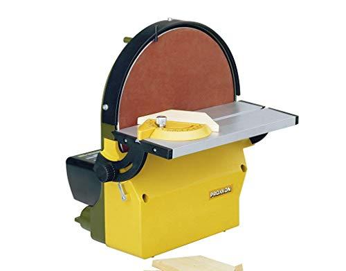 Proxxon Tellerschleifgerät TG 250/E (Gehäuse aus Alu-Druckguss, Schleifteller plangedreht, für Weichholz, Kunststoff, NE-Metall usw., mit Absaugstutzen) 28060