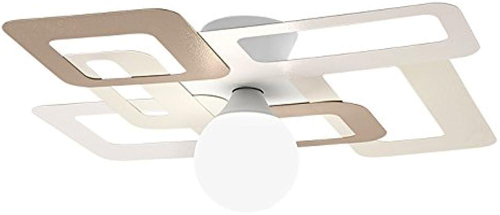 Gibas kuadra, lampada da parete o soffitto, e27, 60 watts,in metallo lucido 173/1FG_C89
