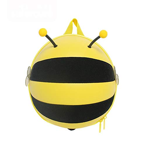 aolongwl Backpack fashion kids' backpack Bee shape packpack for boys and girls waterproof outdoors anti-lost child bag