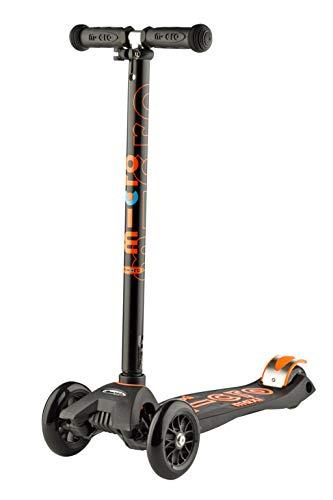 Micro Maxi Deluxe Kinderscooter Kickboard ab 5 Jahren Variante Black/orange