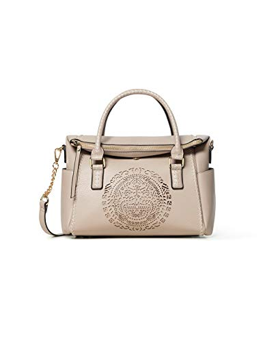 Desigual Damen Bols_tribal Loverty Henkeltasche, Beige (Crudo Beige), 14x24x33 cm