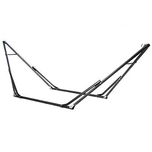 Solide Métal Support Hamac Pliable pour Hamac, Charge jusqu'à 150kg (270x110x110cm) Hamac La Siesta pour Hamac Chaise Paresseux Automne/Intérieur
