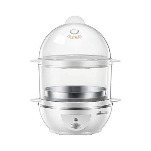 NAFE Hervidor de Huevos, vaporizador de 2 Capas, hervidor eléctrico de hervidor de Huevos con Accesorio de vaporizador para Huevos Duros y Blandos Capacidad de hasta 14 Huevos | Vaso medidor d
