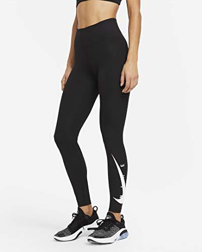 Nike Swoosh Run Tights Black/Reflective silv S