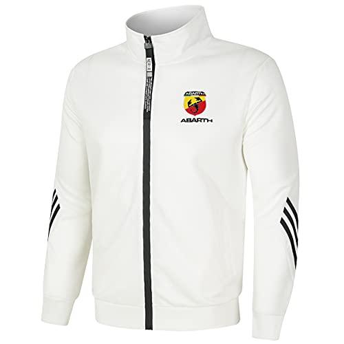 Woakzhe Chaqueta de cuello alto Abart_h para hombres/mujer chándal casual Zip Cardigan ropa deportiva Top (blanco1,L)