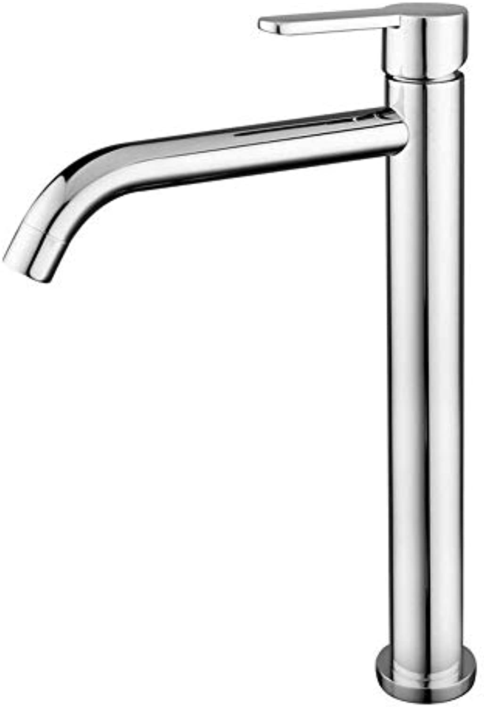 ZHJUAPP über Gegenbassinhahn Badezimmerbadezimmer Heier Und Kalter Kupferner Badezimmerhahn Einzelner Handgriff-einzelner Bassinhahn